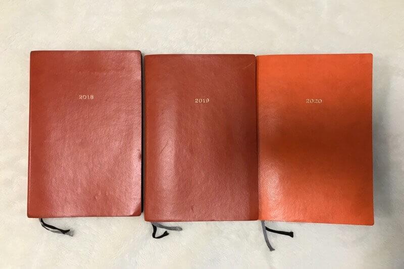 EDiTの手帳、もう3年使っています