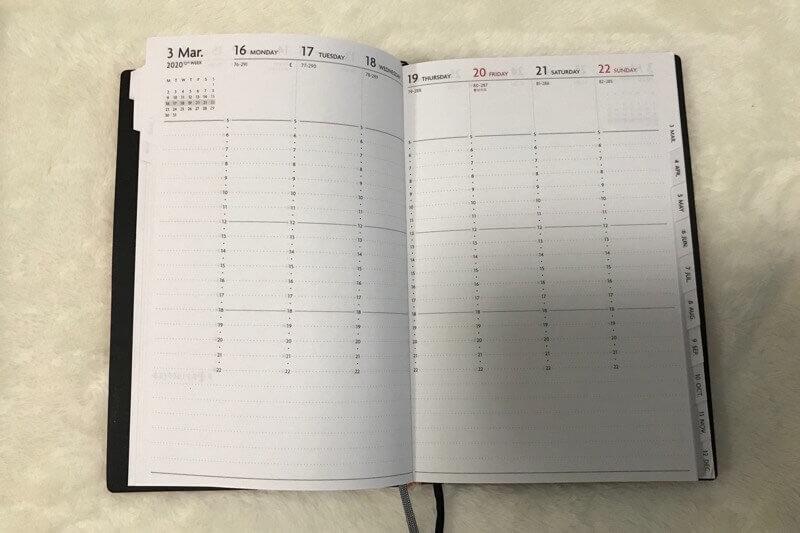 EDiTの手帳、習慣スケジュールページ