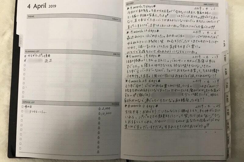 EDiTの手帳、月間目標ページの使い方