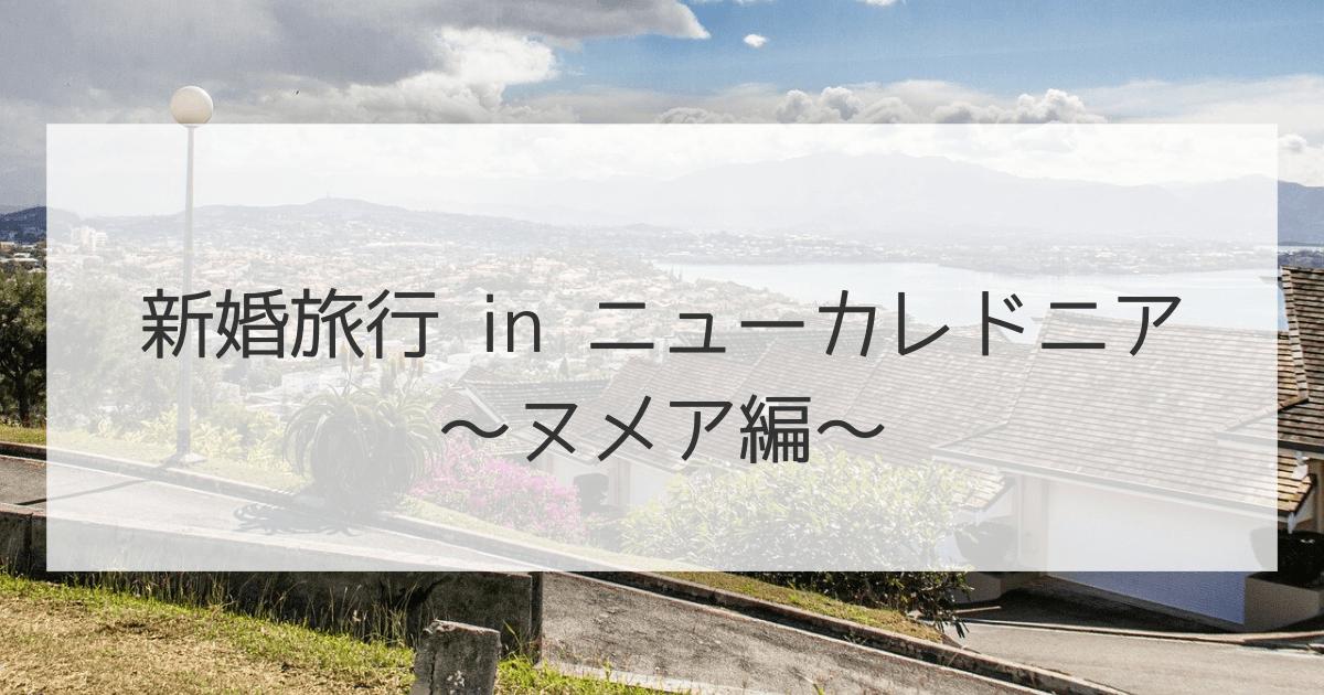 ニューカレドニアの新婚旅行ブログ・ヌメア編