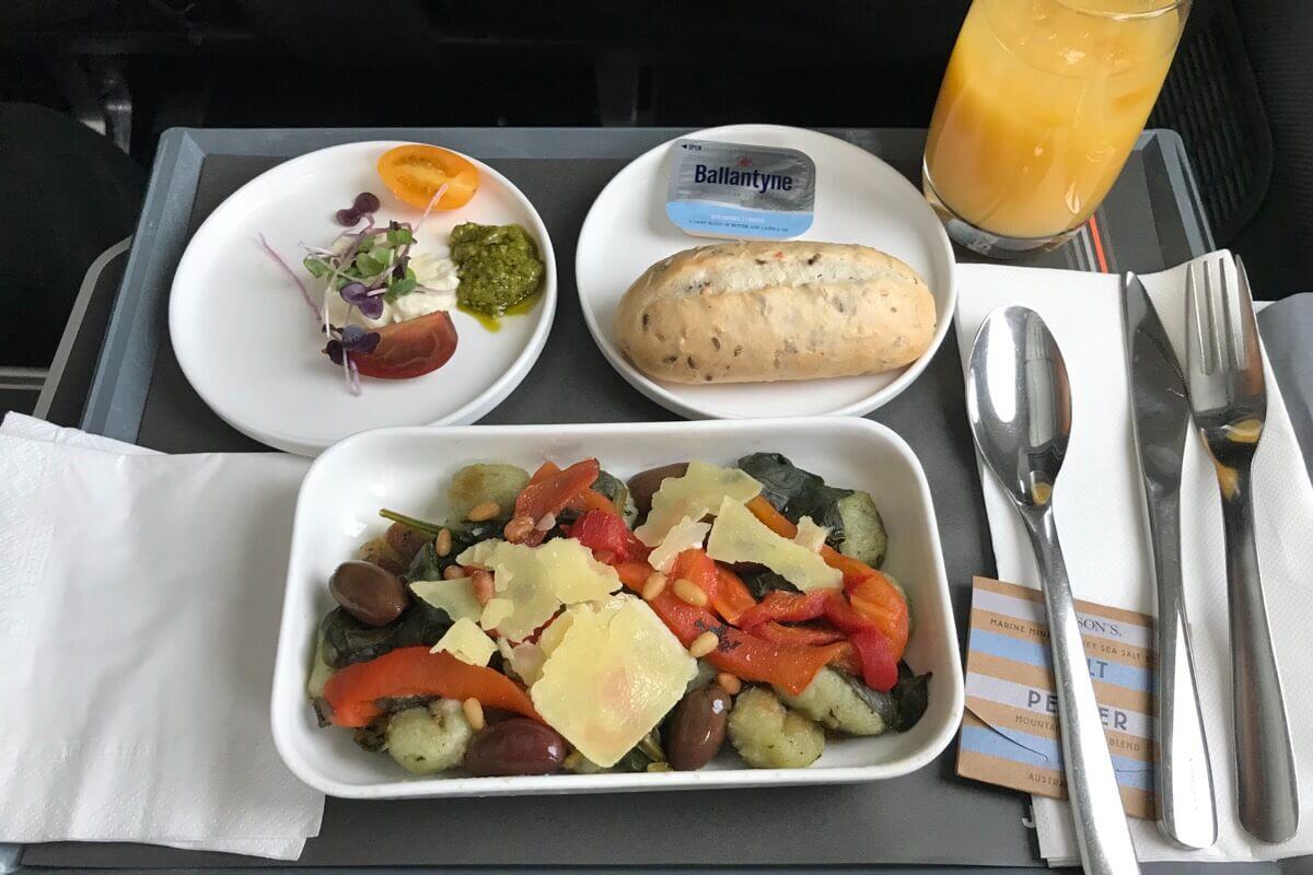 ジェットスタービジネスクラスの機内食